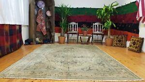 Vintage 1930-1940's Wool Pile Bunyan Area Rug 7' x 10'