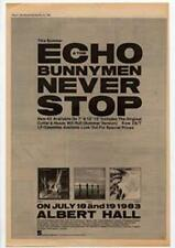 Echo & The Bunnymen Never Stop Advert NME Cutting 1983