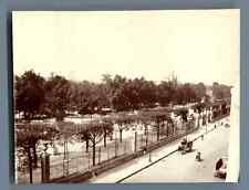 France, Paris, Rue de Rivoli et les Tuileries  Vintage citrate print. Tirage c