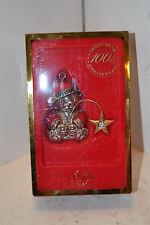 Lenox Silver Plated Teddy Bear Ornament -100th Anniversary Wish on a Star