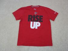 Nike Atlanta Falcons Shirt Adult Large Red Black NFL Football Cotton Mens A11*