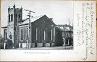 1909 Postcard: Methodist Episcopal Church - Shickshinny, Pennsylvania PA