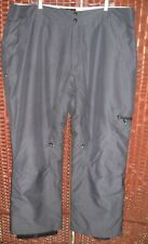Sunice Ski Pants XXL mens 42 44 2XL snowboard poly insulated dark gray