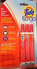 Tide To Go Detergent Pens Instant Stain Spot Remover X 3