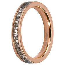 MelanO Vorsteckring Beisteck Ring rosé Eva Größe 52 M 01R4993 RG Kristall schmal