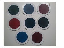 100 ROUND-PERMIT MIXED TAX DISCS HOLDERS - IN LEATHER LOOK PVC