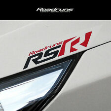 Roadruns Front Logo Sticker RS-TYPE Black & Red For All Universal Vehicles