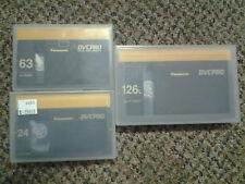 Panasonic DVC Pro tape lot of 3. (24 min, 63 min, and 126 min. NEW!