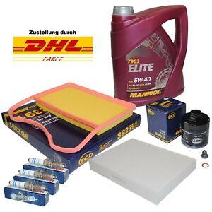Inspektionspaket Filterset VW UP Skoda Citigo Seat Mii 1.0 4L Mannol ÖL 5W40
