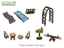 10pc Fairy Garden Furniture Fairy Bridge SET