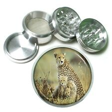 Cheetah Aluminum Grinder D3 63mm 4 Piece Feline Africa Family Mother Baby