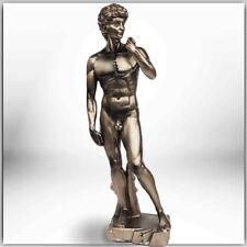 DAVID Figur von Michelangelo bronziert Bronzefigur Bronze Dekofigur Skulptur N07