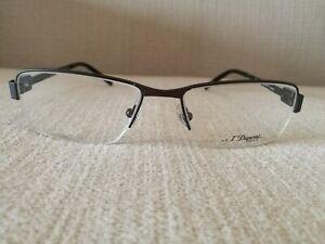 St Dupont Lunette Eyewear Half Frame Glasses Model DP 3020 Col2  GUN METAL 54mm
