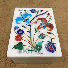 Jewellery Box Earrings Ring Boxes Stone Semiprecious Inlay Handmade Creative Art