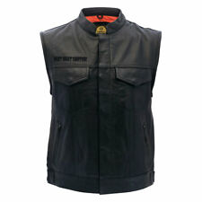 West Coast Choppers Maltese Cross Motorbike Motorcycle Leather Vest Black