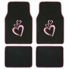 4pc Set New Love Pink Hearts Car Truck Front Back Carpet Floor Mats by BDK USA