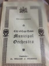 G7-1 Programme Sth Africa City Of Cape Town Municipal Orchestra June 22nd 1944