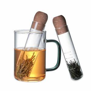 Creative Pipe Glass Tea Strainer Fancy Filter Herb Tea Infuser Tools Accessories