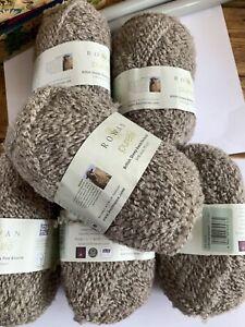 Rowan Purelife Boucle Yarn -50g Brown