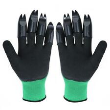 1 Pair Garden Gloves with 8 Fingertips Claws Raking Digging Planting Gloves C#P5