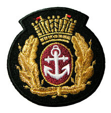 Anchor Golden Crown & Laurel Wreath Logo Embroidered Iron on Patch Free Postage