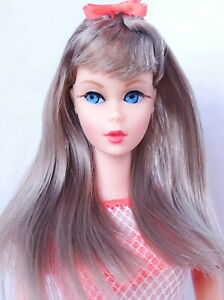Spectacular Vintage Silver Twist 'N Turn Barbie Doll MINT