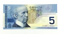 2001 Canada 5 Five Dollar AOA Prefix Circulated Canadian Banknote L149
