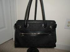 Lovecat Paris Black Leather Fabric Bag 3 section Organizer