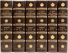 STRICKLAND - Lives of The Queens of England - 6 vols - IN A FINE LEATHER BINDING