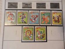 Set of 7 Disney Stamps 1983 Christmas Jingle Bells from Grenada, MNH