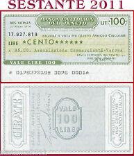 BANCA CATTOLICA DEL VENETO Lire 100 18.3. 1976 AS. CO. COMMERCIANTI VERONA  B176