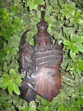 Teppanom Angel handcarved wood wall mount figure head decorative Thai sculpture