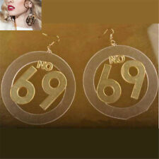 Women Round Leaf Bikini Girl Number Lip Big Acrylic Large Stud Earrings Jewelry 69