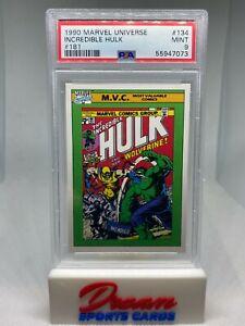 1990 Marvel Universe #134 Incredible Hulk 181 PSA 9 Mint Card Low POP