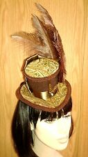 Victorian Riding Day Hat, Mini Steampunk Top Hat Fascinator Mad Hatter