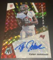 2020 Mosaic Football Tyler Johnson Black & Gold Prizm /8 Auto SSP TB Buccaneers