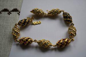 Camrose & Kross JBK Jacqueline Kennedy Royal Color Egg Bracelet