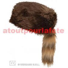 Chapeau,Coiffe,Toque de Davy Crocket,Crockett,Castor,Trappeur,déguisement,Fête