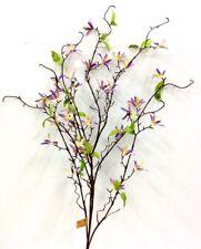 "Flowering Blossom Branch~Lavender, Green~50""~Silk/Artificial"
