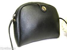 Vintage CHRISTIAN DIOR Black Coated Canvas Shoulder Bag