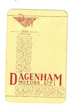 "VINTAGE ""DAGENHAM MOTORS"" Exclusive FORD Dealer Single Advertising Playing Card"