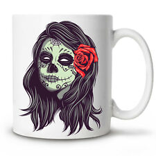 Coffee Mug DAY OF THE DEAD skull mexico Novelty Cup 11 oz gift funny humour