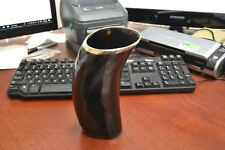 """BUFFALO HORN GAME OF THRONE MEDIEVAL DRINKING ALE CUP MUG 7"""" #E"""