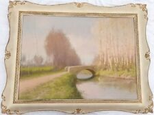 Romeo BORGOGNONI (Ravenna 1875- Pavia 1944) Roggia Lomellina con pioppeto 74x100