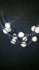 3 Row 10mm 12 White Crystal Beads Adjustable Bracelet