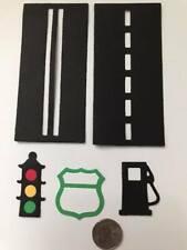 5 Piece Transportation Set  Premade PAPER Die Cuts / Scrapbook & Card Making