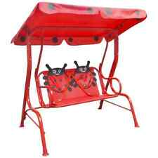 vidaXL Kids Swing Seat Red Garden Outdoor Children Hammock Chair with Canopy
