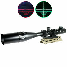 6-24x50 Hunting Rifle Scope Red Green Dual illuminated w/ PEPR Mount & Sunshade