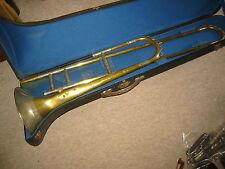 """Sehr  alte Posaune """"J.C. Penzel""""   trombone, breiter Neusilberkranz"""