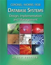 Database Systems: Design, Implementation and Management 9th Edition